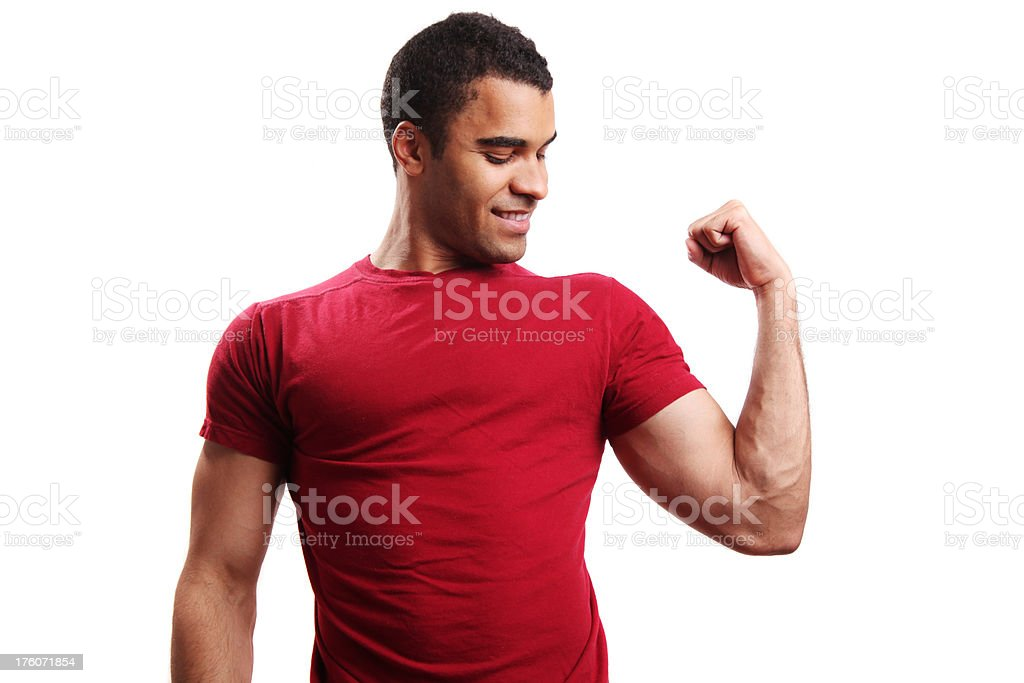 Strong young guy royalty-free stock photo
