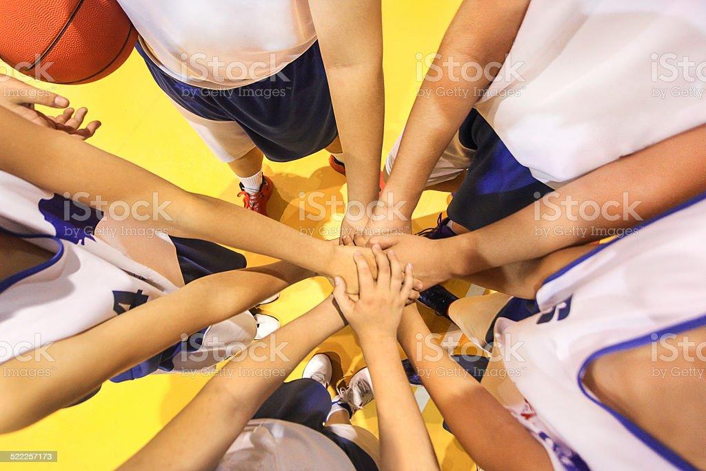 Stronger as a team stock photo