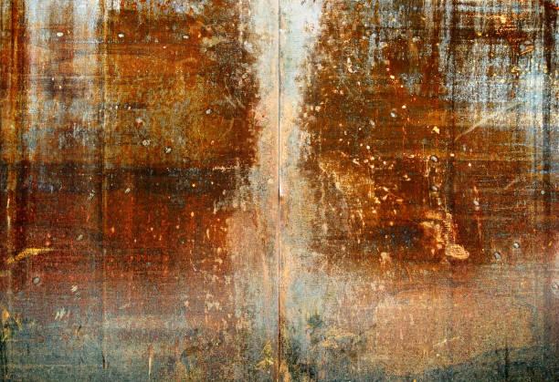 Stark rostige Metallplatte – Foto