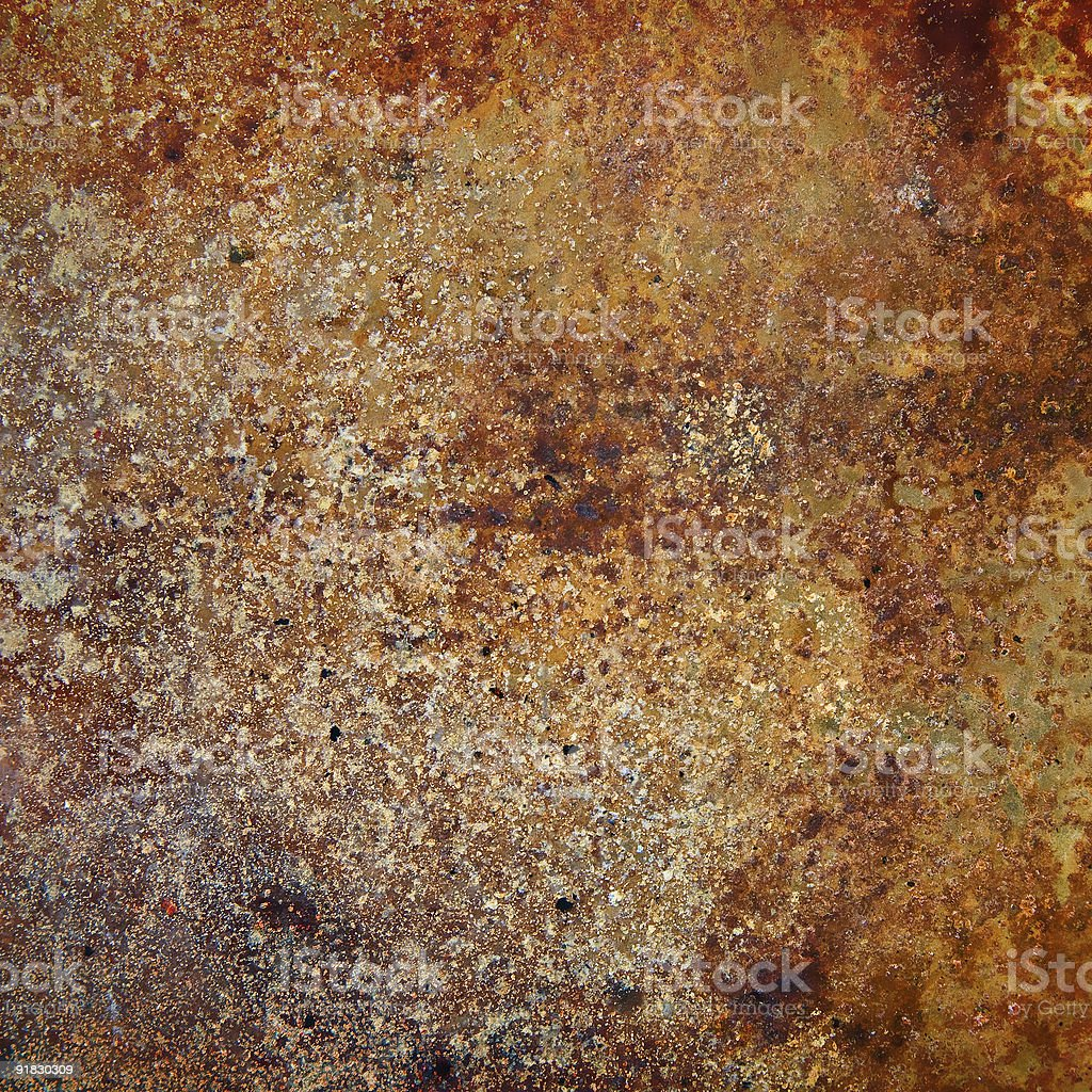 strongly rusty metal plate royalty-free stock photo