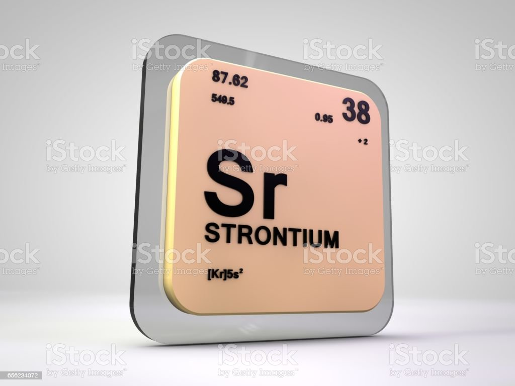 Strontium Sr Chemical Element Periodic Table 3d Render Stock Photo