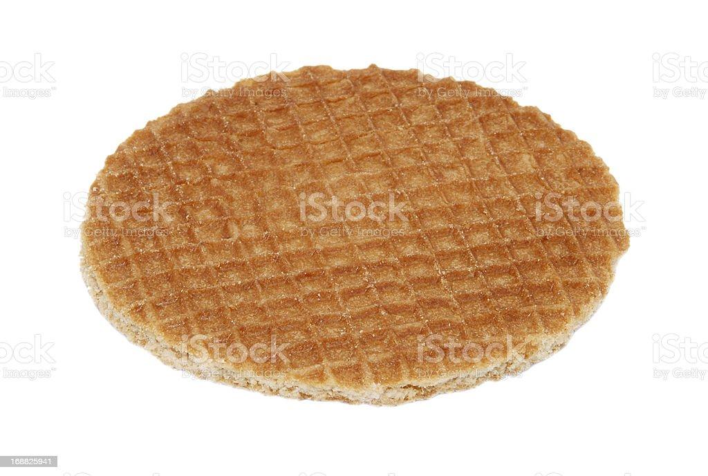 Stroopwafel, Dutch caramel waffle royalty-free stock photo
