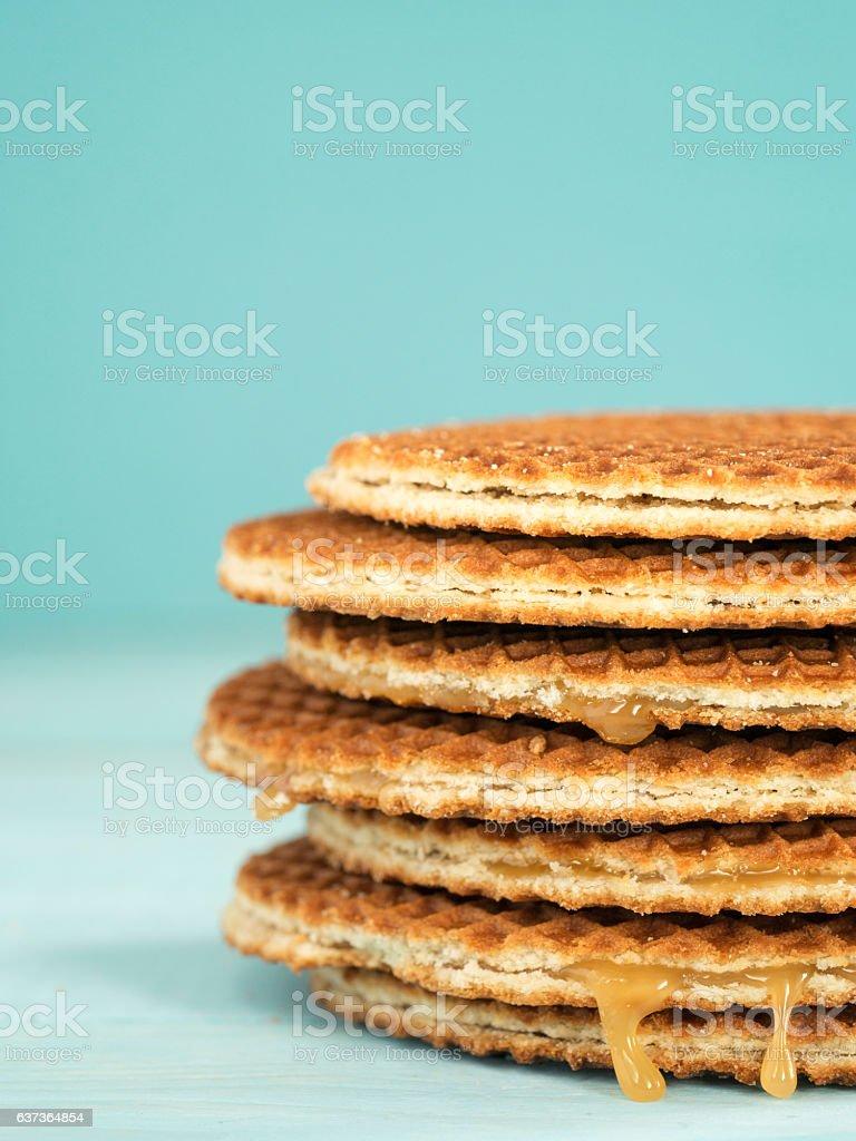 Stroopwafels or caramel Dutch Waffles - Photo