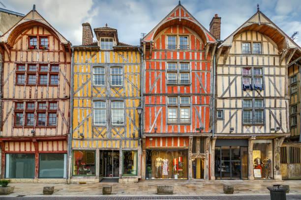 Strret in Troyes, Frankreich – Foto