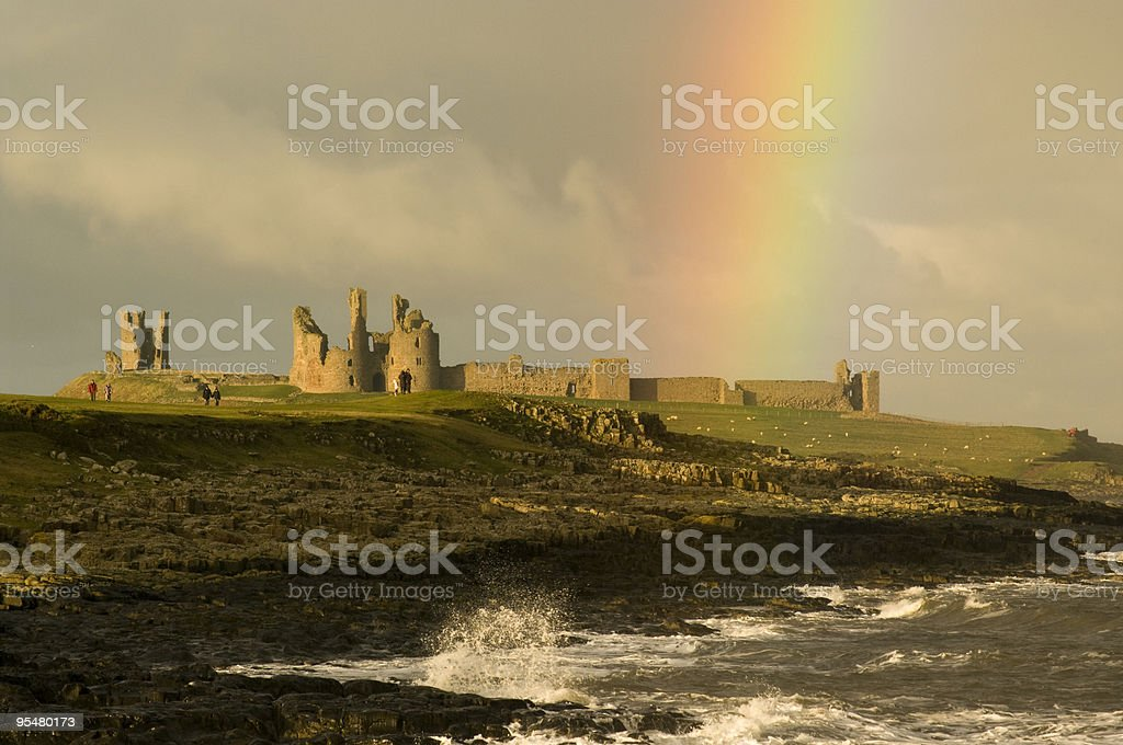 Struck by a rainbow 2 stock photo