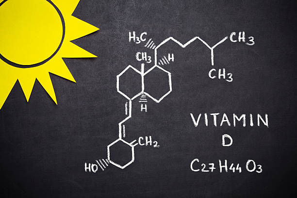 structural chemical formula of vitamin d - vitamin d stok fotoğraflar ve resimler