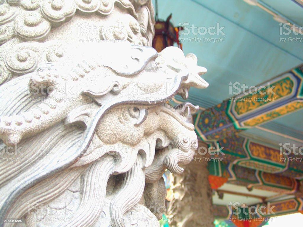 Structural column in Wong Tai Sin, Hong Kong stock photo