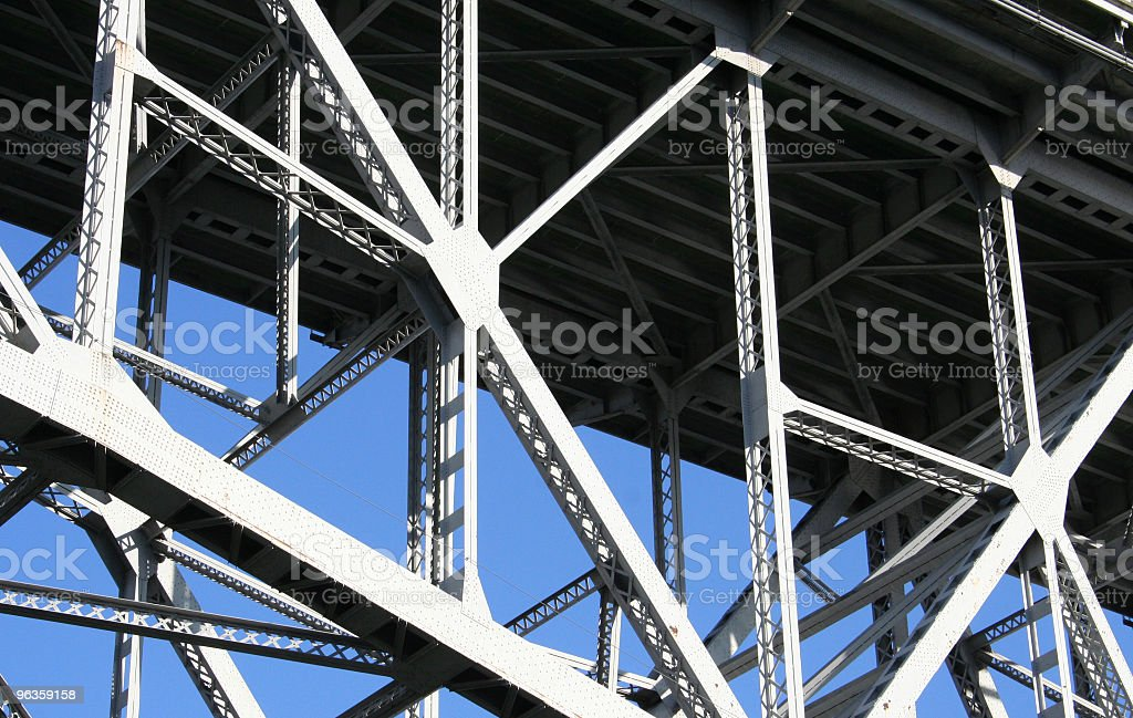 structural detail of bridge stock photo