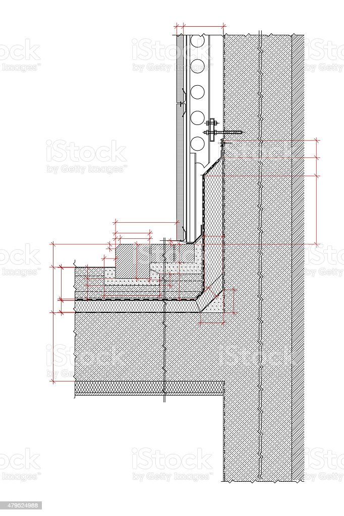 Structural drawing stock photo