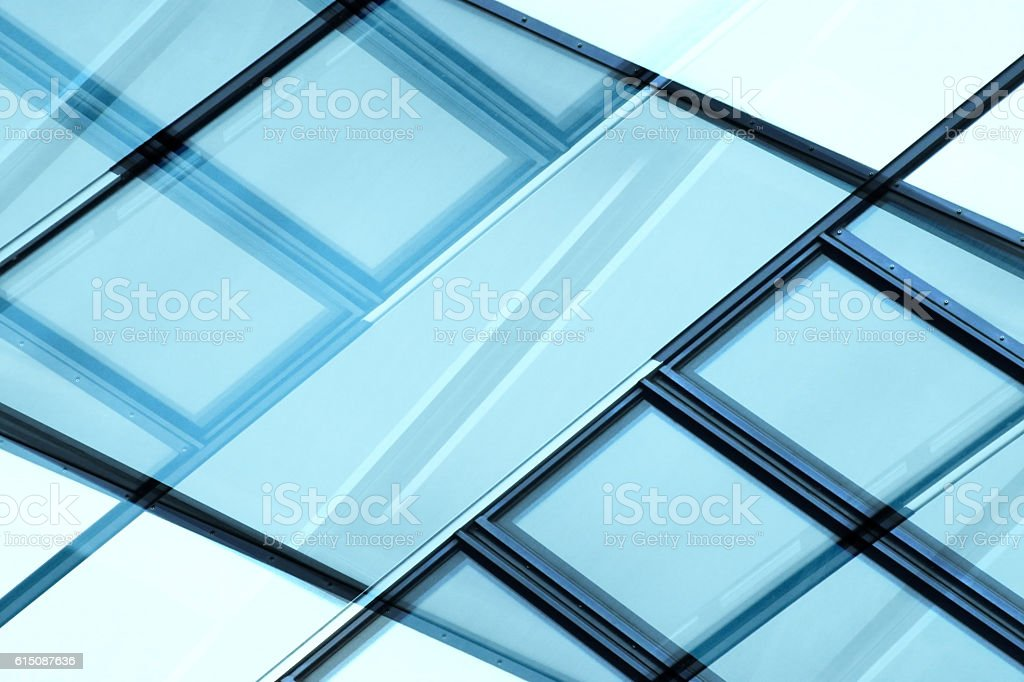 Structural glazing. Contemporary architecture with wide glass surface. stock photo