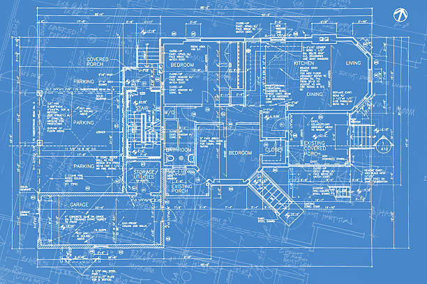 Royalty free blueprint background pictures images and stock photos structural imagery a08 stock photo malvernweather Gallery