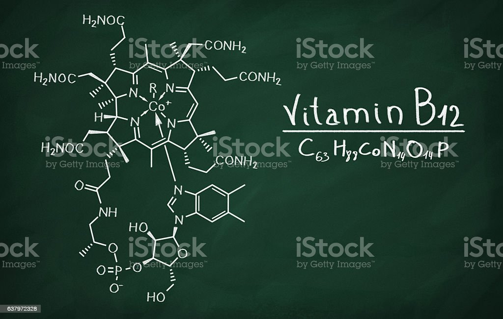 Structural model of Cobalamin stock photo