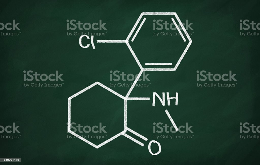 Structural model of Ketamine royalty-free stock photo