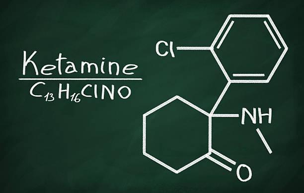 structural model of ketamine - ketamine stockfoto's en -beelden