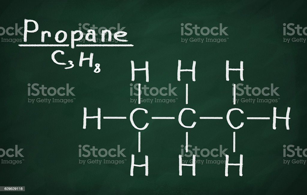 Structural model of propane on the blackboard stock photo more structural model of propane on the blackboard royalty free stock photo urtaz Gallery