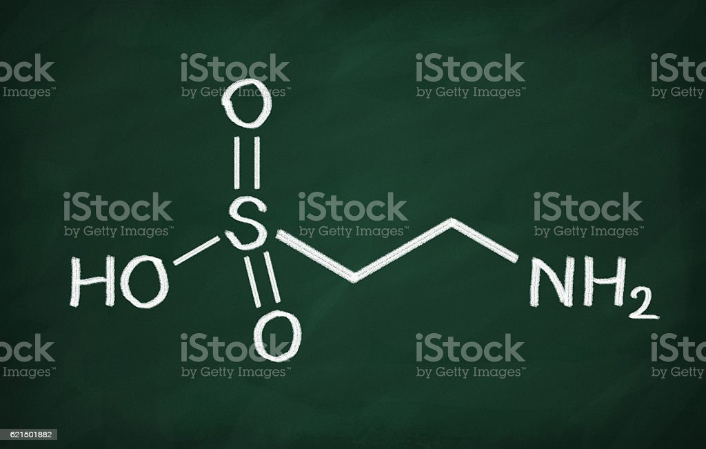 Structural model of Taurine foto stock royalty-free