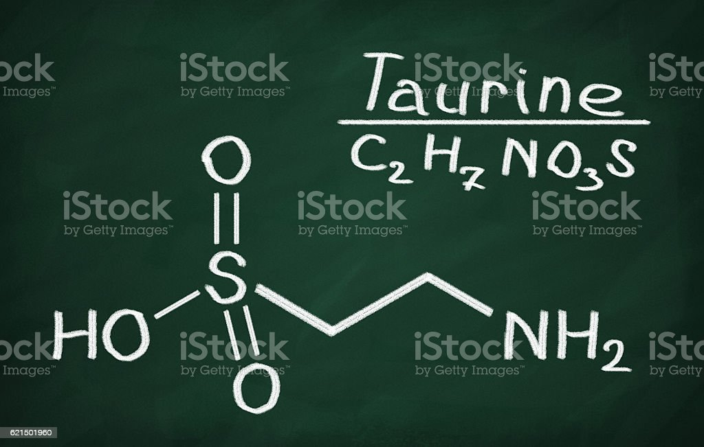 Structural model of Taurine photo libre de droits