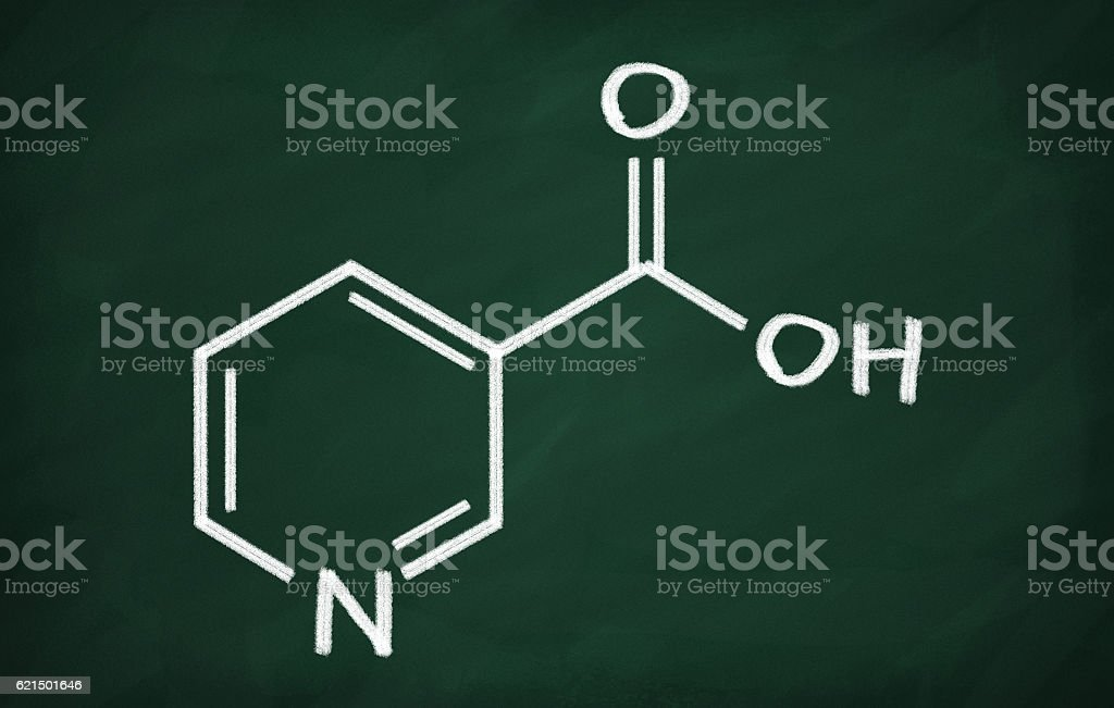 Structural model of Vitamin B3 (Niacin) Lizenzfreies stock-foto