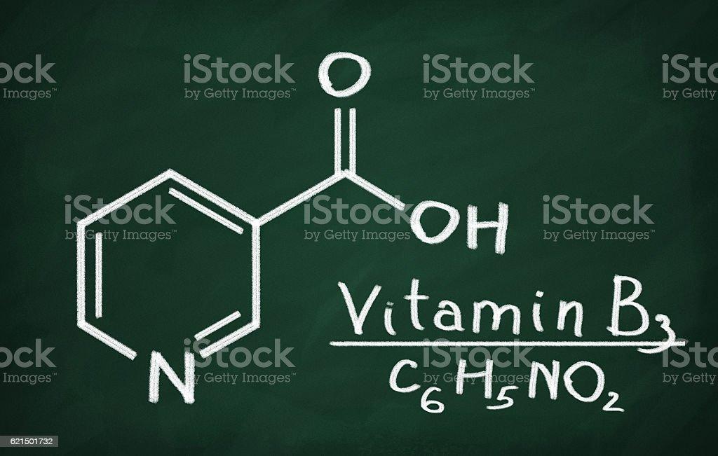 Structural model of Vitamin B3 (Niacin) foto stock royalty-free