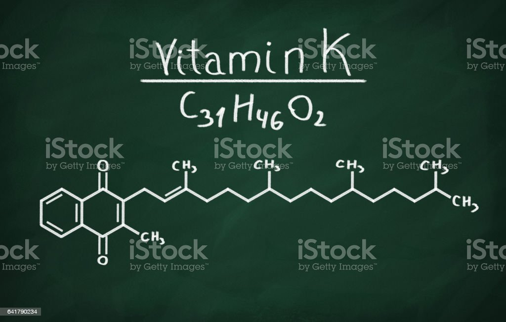 Structural model of Vitamin K stock photo