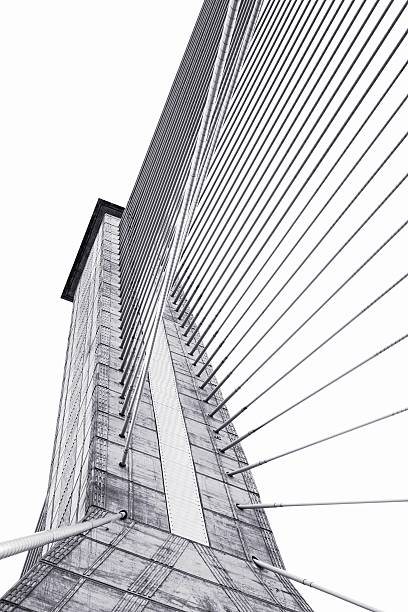Structural of bridge detail stock photo