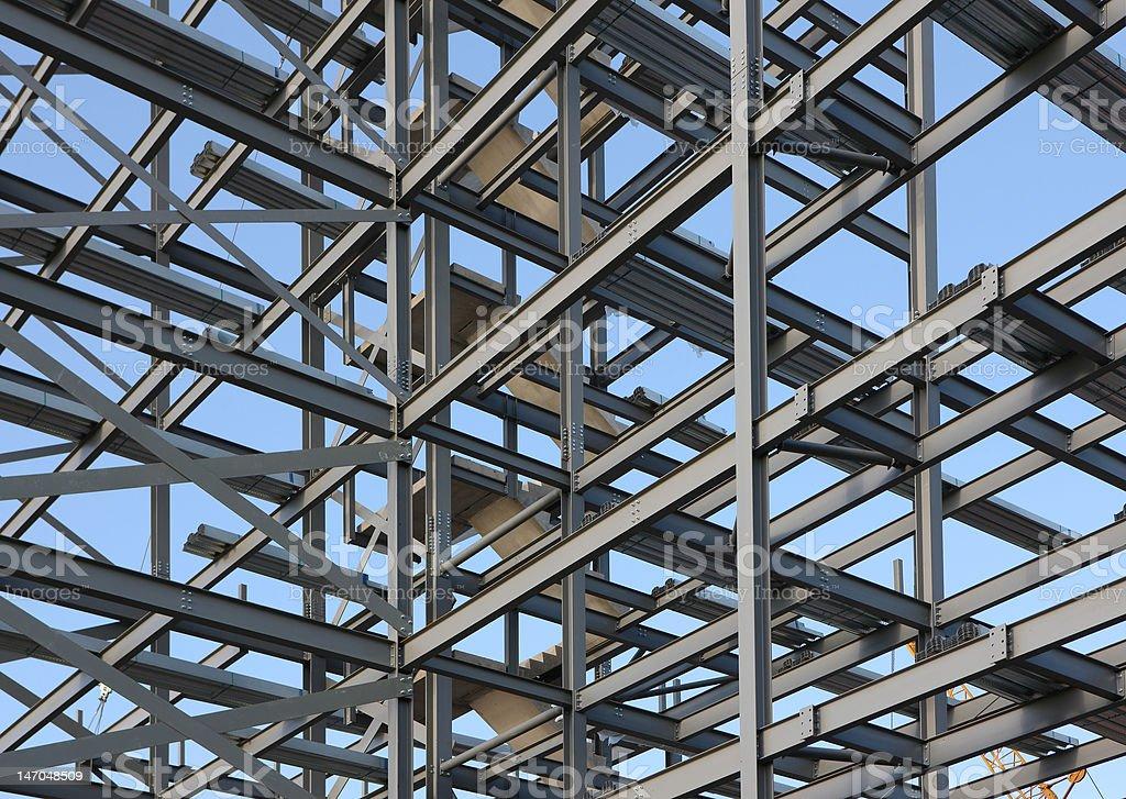Structural Steel Framework stock photo