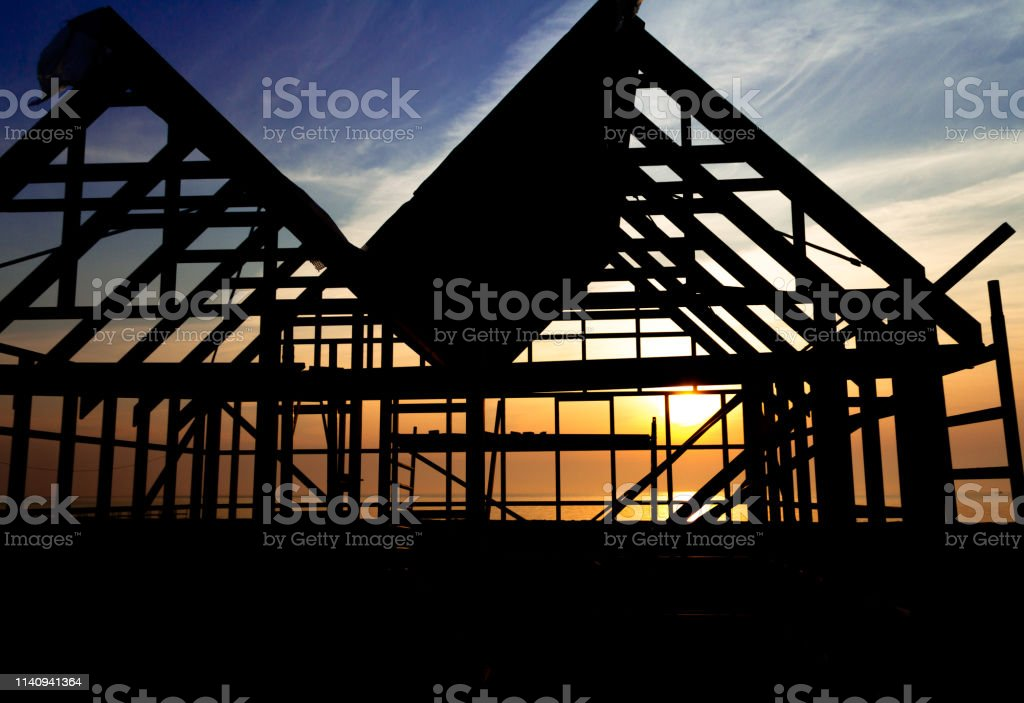 Structural sunrise stock photo