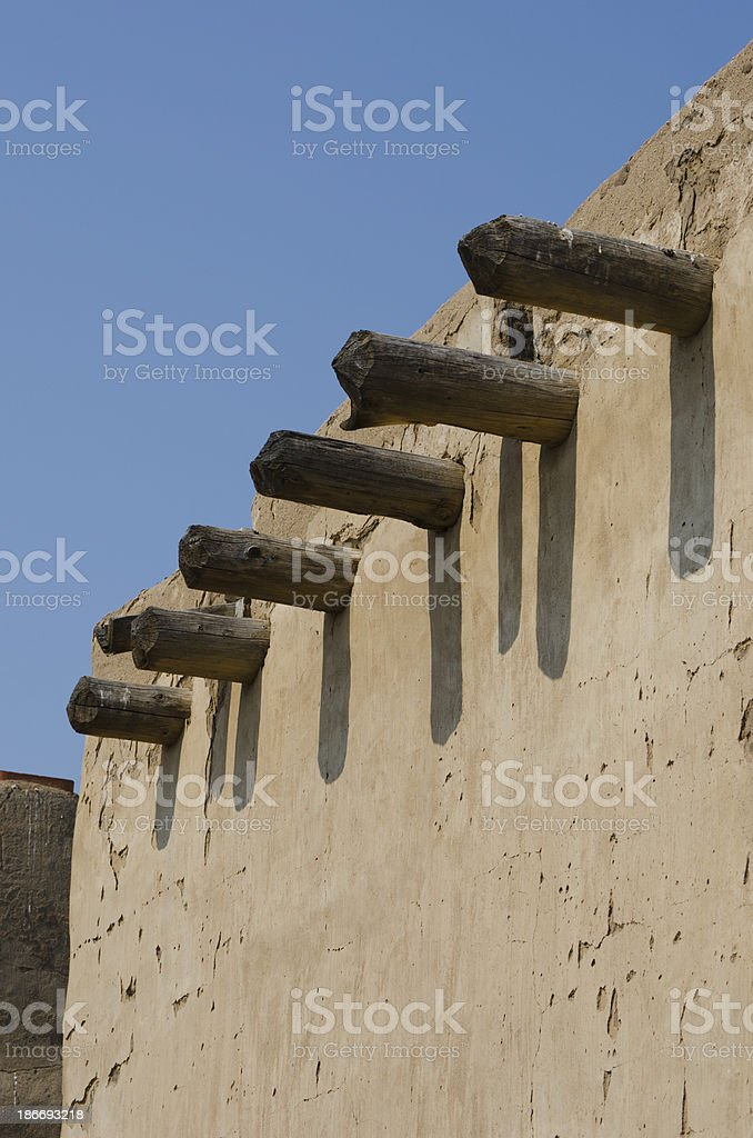 Structural Vigas at Bent's Old Fort National Historic Site stock photo