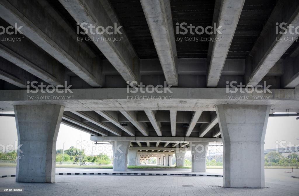 Structure Design Under the Bridge stock photo