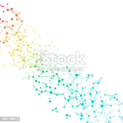 istock Structure molecule dna and neurons, connected lines with dots, genetic and chemical compounds, illustration 692188812