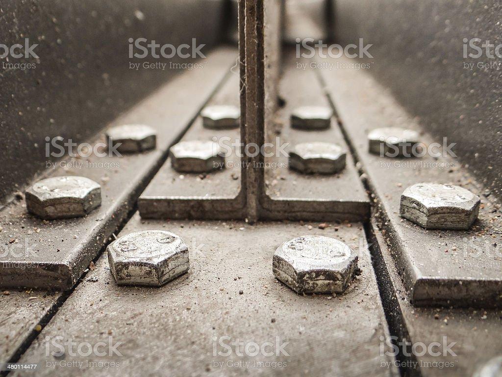 Structure métallique stock photo