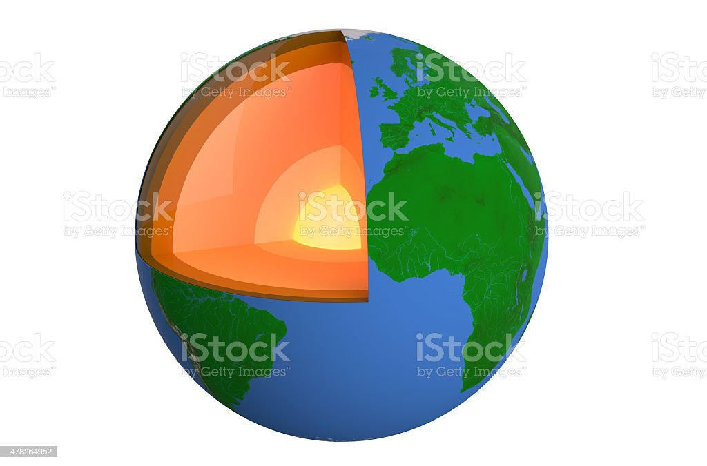 structure of earth stock photo