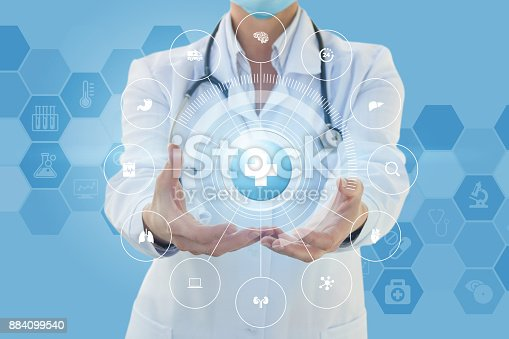 istock Structure of medical care . 884099540