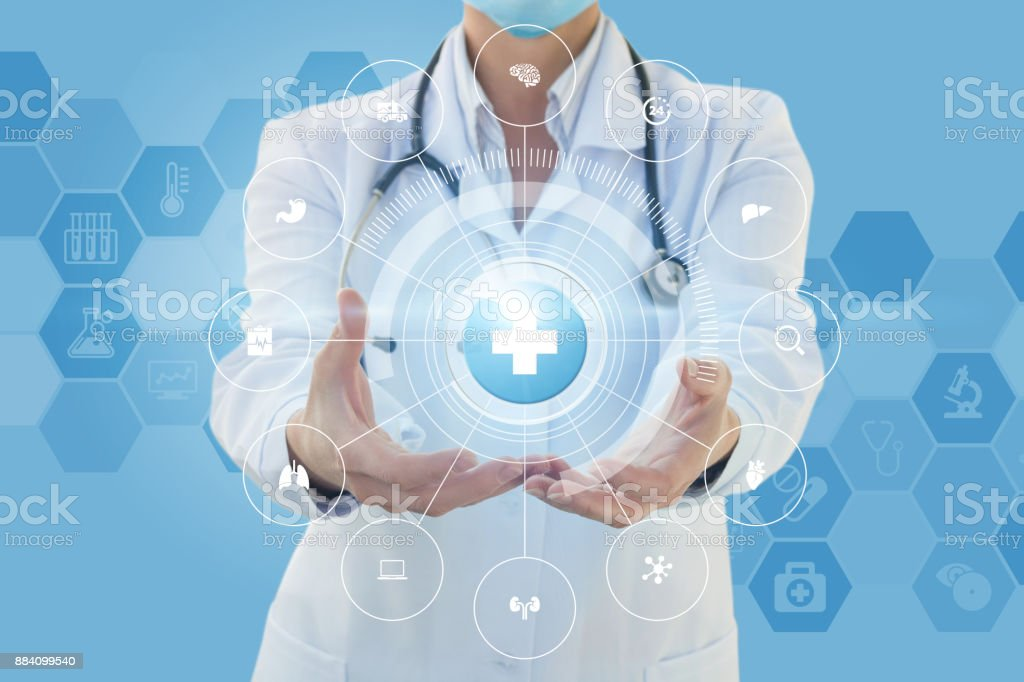 Structure of medical care . stock photo