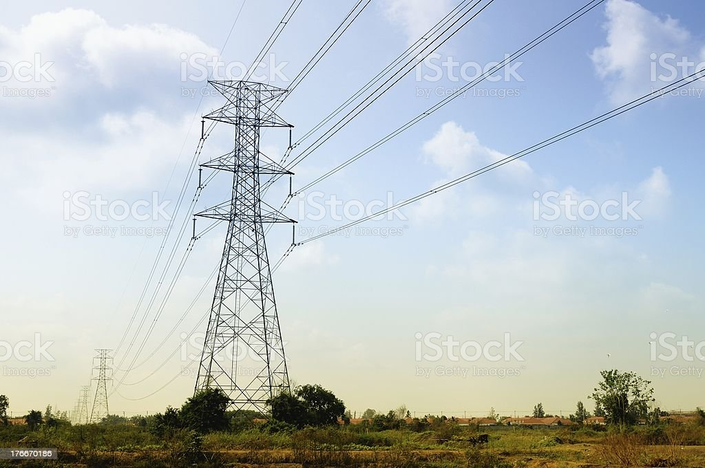 Structure of Power Line royalty-free stock photo