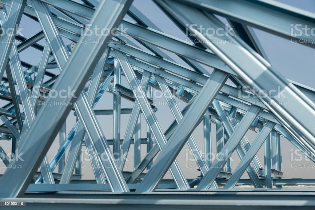 Structure of steel roof frame royalty-free stock photo