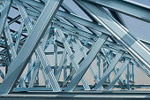 Structure of steel roof frame