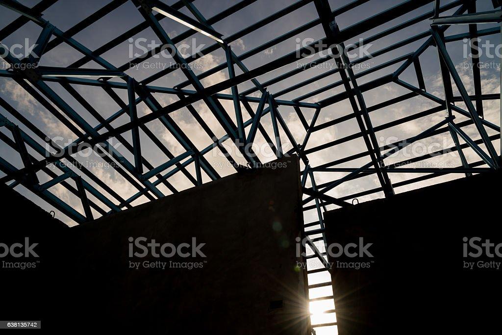Fotografía de La Estructura De Acero En El último Piso y más banco ...
