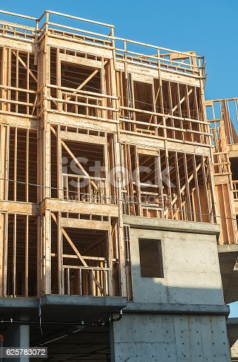 istock Structure of Wood in Construction 625783072