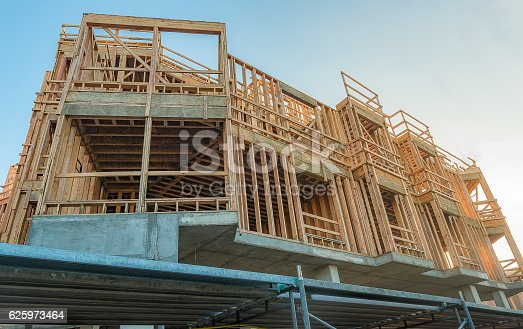 istock Structure of Wood in Construction 625973464