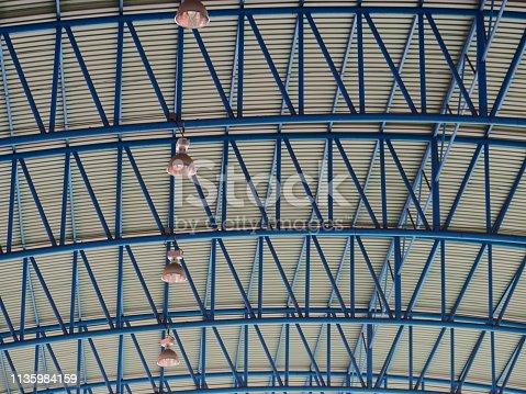 istock Structure roof of dome building 1135984159