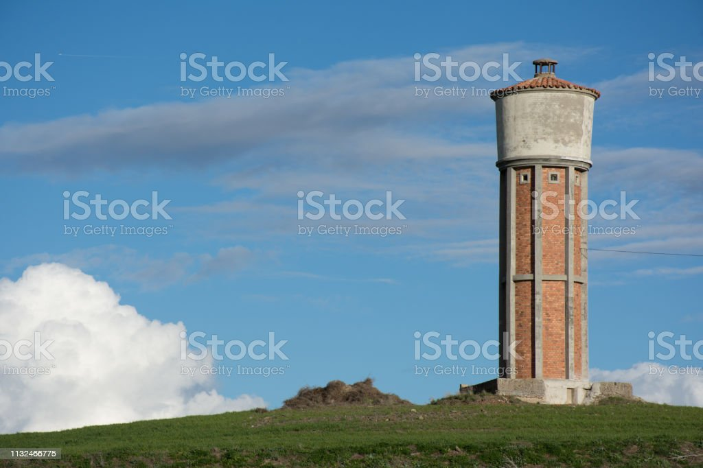 Structure that serves to distribute water to the population stock photo