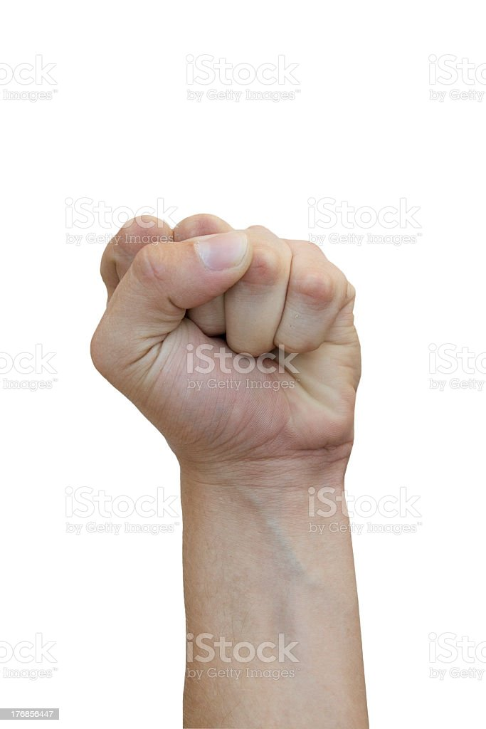 Struggle sign made with hand royalty-free stock photo
