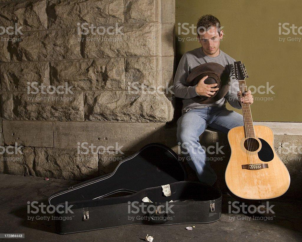 Struggling Musician royalty-free stock photo