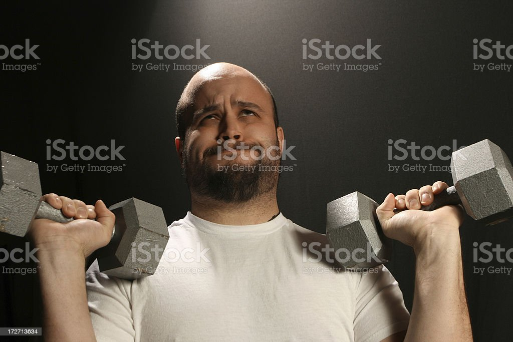 Struggling Weight Lifter royalty-free stock photo