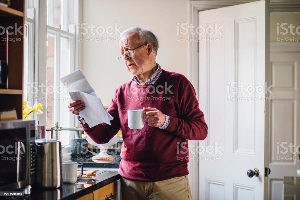 Struggling With Bills stock photo