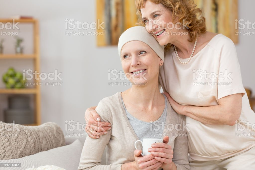 Struggling with illness stock photo