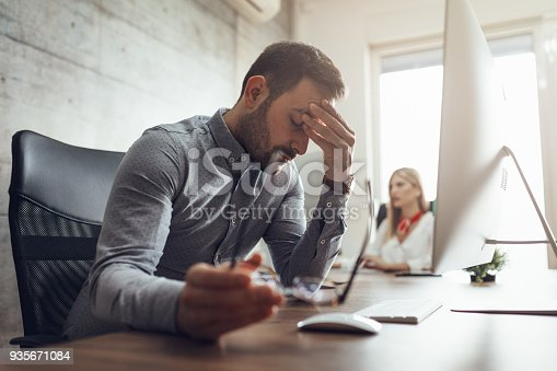 istock Struggling With Occupational Stress 935671084