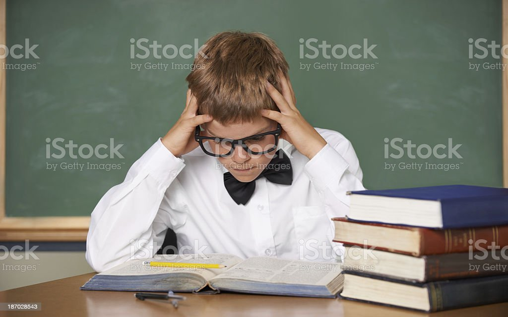Struggling with the workload... royalty-free stock photo