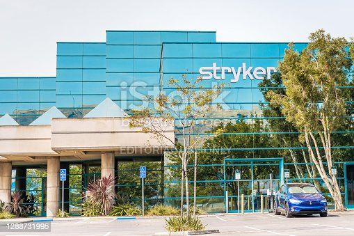 Sep 17, 2020 Fremont / CA / USA - Stryker Corporation headquarters in Silicon Valley; Stryker Corporation is an American multinational medical technologies corporation